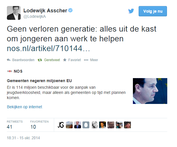 tweet Lodewijk Asscher Buzzmij